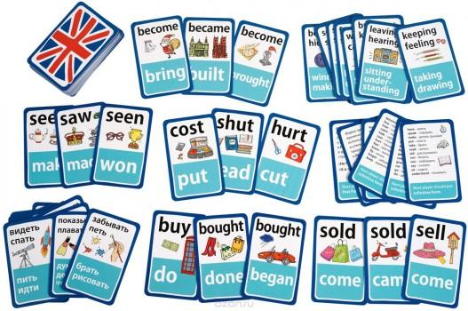 Обучающая игра Английские неправильные глаголы Уровень 1 Красный