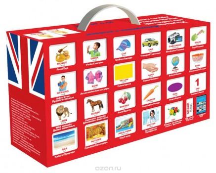 Вундеркинд с пеленок Обучающие карточки Английский